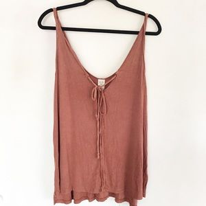 | We the Free | ribbed tie tank top